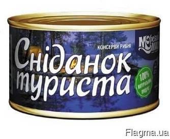 """Рибна консерва сніданок туриста """"Морской мир""""  240г"""