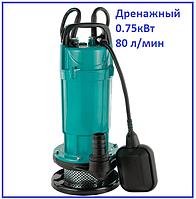 Насос канализационный 750Вт 80л/мин Aquatica дренажный фекальный садовый полив и откачка нечистот ям септиков