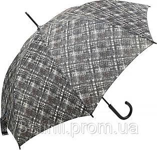 Зонт-трость Doppler 740765К-3 полуавтомат Серый клетка