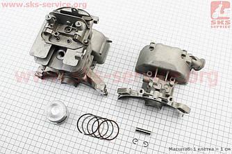 Цилиндр к-кт (цпг) 40мм (палец 8мм) с крышками HONDA GX35 (CG438) - 4Т (213152)