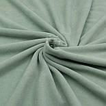 Клаптик велюру х/б темно-фісташкового кольору, розмір 22*180 см, фото 2