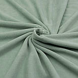 Лоскут велюра х/б тёмно-фисташкового цвета, размер 22*180 см, фото 2