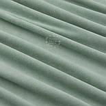 Клаптик велюру х/б темно-фісташкового кольору, розмір 22*180 см, фото 3