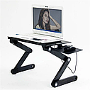 Столик для ноутбука розкладний трансформер Т8 з активним охолодженням, фото 4