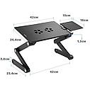 Столик для ноутбука розкладний трансформер Т8 з активним охолодженням, фото 5