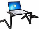 Столик для ноутбука розкладний трансформер Т8 з активним охолодженням, фото 7