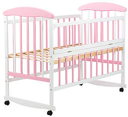 Кровать Наталка ОБРО откидной бок  ольха бело-розовая