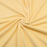 Лоскут велюра х/б светло-жёлтого цвета, размер 45*180 см, фото 2