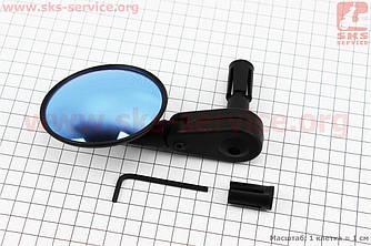 Зеркало круглое, регулируемое, угол настройки 360°, черное SBM-4065 (409294)