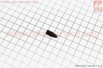 Колпачок ниппеля (Presta), алюминиевый, черный FV-01 (409386)