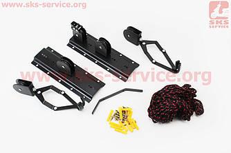 Кріплення велосипеда до стелі, чорне HS-044 (409421)