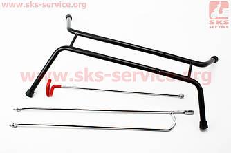 """Подставка под колесо 26"""" складная, вертикальное или горизонтальное хранение велосипеда, черная HS-021А"""