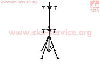 Підставка під 2 велосипеда регульована висота 100-150 см, регульований кут нахилу велосипеда HS-QX-006G