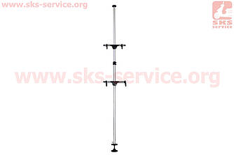 Підставка під 2 велосипеда телескопічна 1,8-3м, регульований кут нахилу велосипеда, алюмінієва HS-051