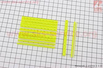 Светоотражатели на спицы 5х75мм, 12шт к-кт, желтые JY-1201 (409302)