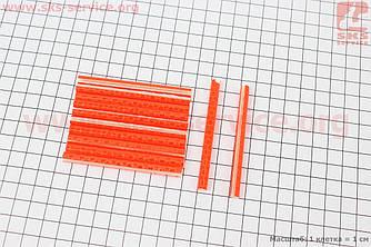 Светоотражатели на спицы 5х75мм, 12шт к-кт, оранжевые JY-1201 (409304)