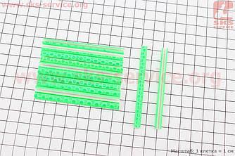 Светоотражатели на спицы 5х75мм, 12шт к-кт, салатовые JY-1201 (409305)