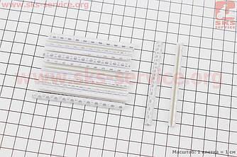 Светоотражатели на спицы 5х75мм, 12шт к-кт, серые JY-1201 (409306)