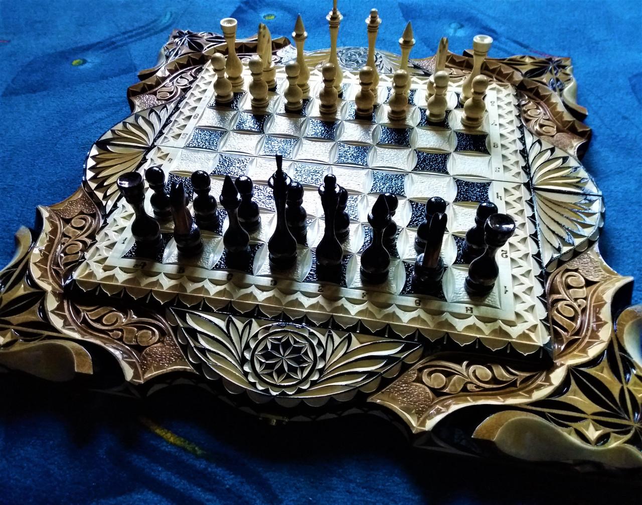 Шахматы-нарды подарочные