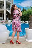 """Женское платье """"Роза"""" пурпурные цветы, фото 2"""