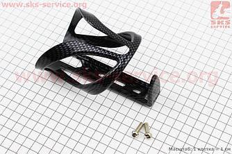 """Флягодержатель пластиковий з кріпленням на раму, """"карбон"""" LY-3646 (409685)"""