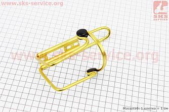 Флягодержатель алюмінієвий з пластмасовими вставками, крепл. на раму, жовтий (409241)