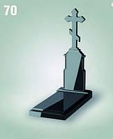 """Надгробный памятник с крестом """"Постамент"""""""