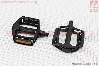"""Педали MTB широкие 9/16"""" алюминиевые, черные WP313 (406776)"""