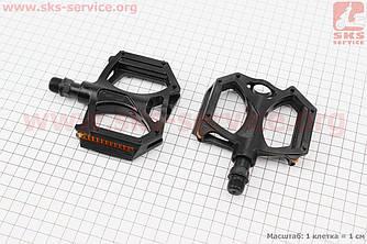 """Педали MTB широкие 9/16"""" (100x100x23mm) алюминиевые, черные M195DU (406673)"""