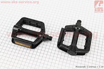 """Педали MTB широкие 9/16"""" (109x93x25mm) алюминиевые, черные WP625 (406778)"""