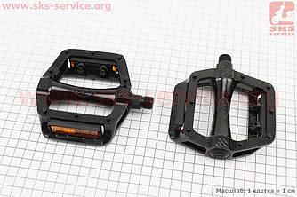 """Педали MTB широкие 9/16"""" (108x105x26mm) алюминиевые, черные NWL-305 (406976)"""