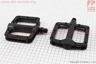 """Педали MTB широкие 9/16"""" (110x102x22mm) алюминиевые, черные NWL-303 (411116)"""