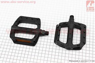 """Педали BMX 9/16"""" (107x95.5x25mm) пластиковые, черные LU-984DU (411141)"""