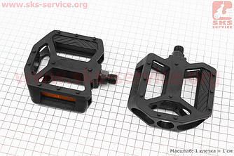 """Педали BMX 9/16"""" (108x105x28mm) пластиковые, черные LU-P9 (411143)"""