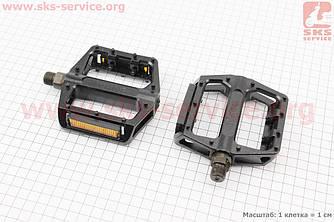 """Педали BMX 9/16"""" (109x100.5x26mm) алюминиевые, черные B087DU (406674)"""