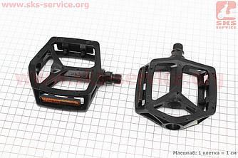 """Педали BMX 9/16"""" (111.5x102x22mm) алюминиевые, черные VB-249DU (406387)"""