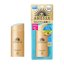 Shiseido Anessa SPF50 Санскрин для лица и тела 90 мл Perfect UV Skincare Milk SPF 50+/PA++++