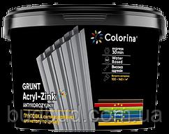 Грунтовка антикоррозионная для металла и цинка серая COLORINA 1 кг