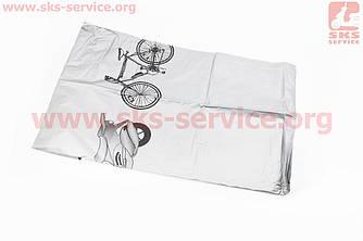 Чехол на велосипед 200х65х110см, влагозащитный полиэстер, серый (409471)