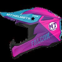 MT FALCON SYSTEM B8 GLOSS PINK, L - Мотошлем кроссовый