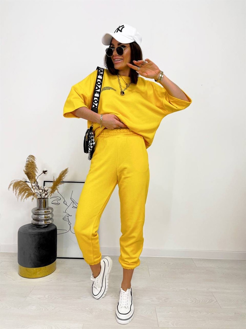 Женский прогулочный костюм Желтый