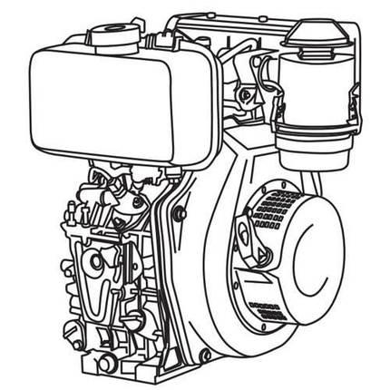 Двигун дизельний Vitals DM 12.0 sne, фото 2