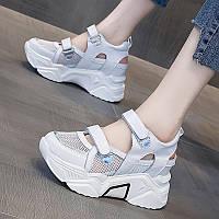 Женские кроссовки 2021, новая летняя обувь, универсальная кожаная женская обувь, туфли на римской платформе на