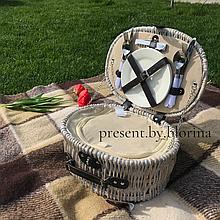 Корзина для пикника Прованс с набором на 2 персоны