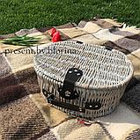 Кошик для пікніка Прованс з набором на 2 персони, фото 4