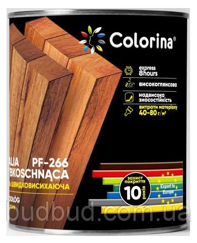 Эмаль для пола ПФ-266 быстросохнущая красно-коричневая COLORINA 2.8 л