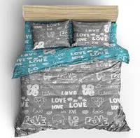 Бязевый комплект постельного белья двуспальный размер 180/210 см от производителя