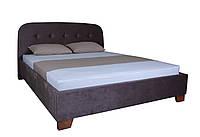 Двуспальная кровать Милана с мягким изголовьем Melbi