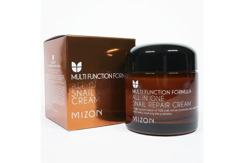 Восстанавливающий супер крем Mizon для лица с фильтратом слизи улитки All In One Snail Repair Cream 75ml