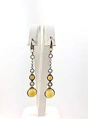 Серьги серебряные с янтарем 330EAS-m